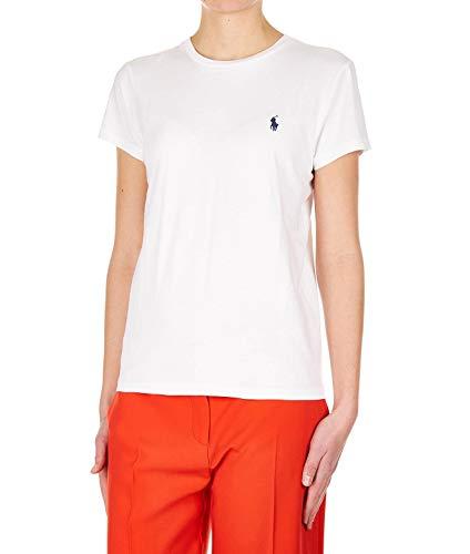 Luxury Fashion | Ralph Lauren Dames 211734144001 Wit Katoen T-shirts | Lente-zomer 20