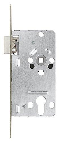 ABUS Tür-Einsteckschloss Profilzylinder TKZ20 Stumpf für DIN-rechts Türen, silber, 57205