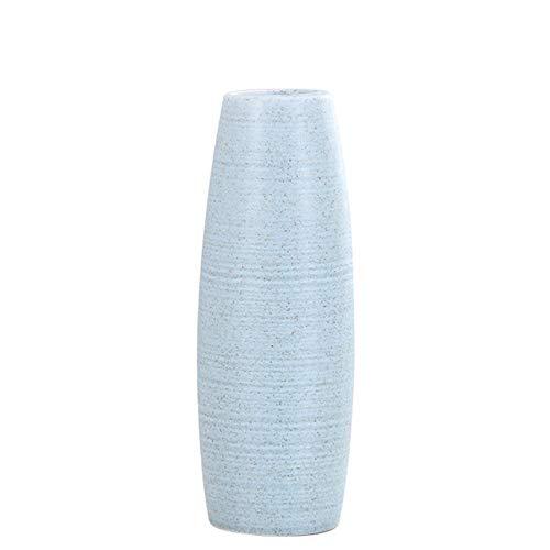 XuanMax Vasi in Ceramica Fatti a Mano Porcellana Vaso di Fiori Decorativi Regalo Decorazioni per Ristorante Soggiorno Matrimonio Tavolo Feste Casa Ufficio (Piante Non Sono Incluse) - Piccolo Blu