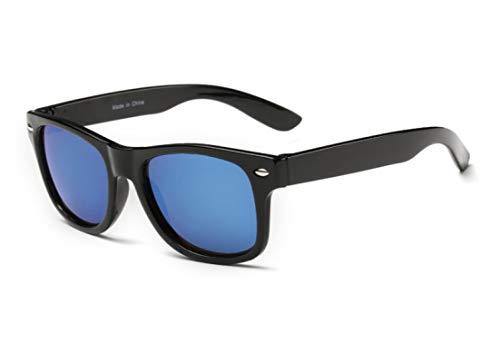 Gafas de Sol Gafas De Sol para Niños Gafas De Sol para Niños Niños Niñas Gafas De Moda Recubrimiento De Lentes Protección UV 400 Negro Azul
