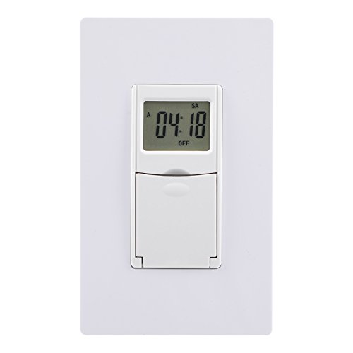 DEWENWILS Indoor in Wall Light Switch with Timer, 7 Day, 7 ON/Off Settings, DST RDM Mode, Programmable for Lights, Fans, Motors, Neutral Wire Required, ETL Listed