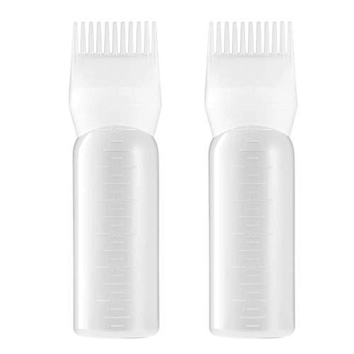 Beaupretty Haarkleuring Verven Dispensing Fles Wortel Kam Applicator Fles Haarverf Perming Tool Voor Thuis Salon 2St