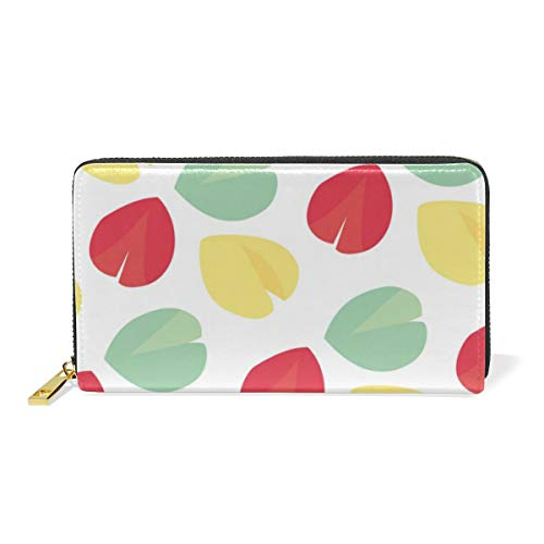 Fortune Cookie Pattern Women Wallet Female Coin Purse Phone Clutch Pouch Girl Cash Bag Leather Card Change Holder Organizer Storage Key Hold Elegant Handbag For Party Birthday Gift