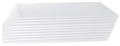 Styroporplatten 10er Set - Maße 50cm x 33cm x 1cm