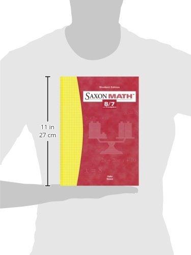 Saxon Math: 8/7 with Prealgebra, Student Edition 3rd Edition
