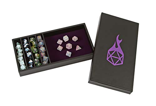 Forged Dice Co Dice Battle Pit Dice Tray  2 Dice Trays in 1 with Staging Area  Rolling Tray and Storage Compatible with Any Dice Game DampD and RPG Gaming  Purple