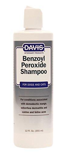 Davis Benzoyl Peroxide Medicated Dog & Cat Shampoo  12 oz. – Dermatitis and Demodectic Mange