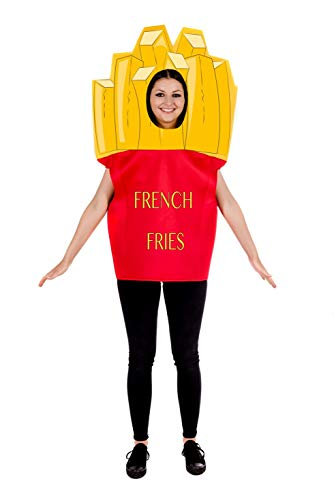 Fun Shack Gelbes Pommes Kostüm für Damen und Herren - Einheitsgröße