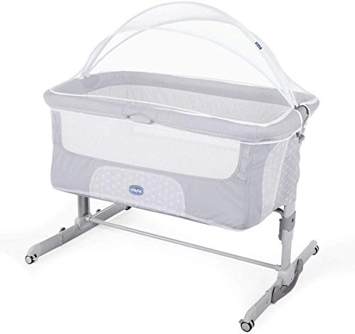 Chicco Next2Me Mosquitera para mini cuna Chicco Next2me: Estandar, Dream, Magic, con cremallera, color blanco