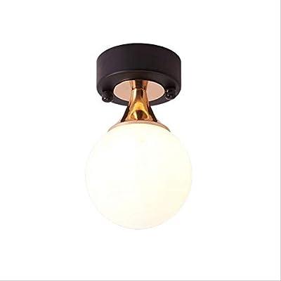 DAXGD LED Lampe de plafond, Lampe de boule en verre, Plafonnier pour Chambre à coucher, Couloir, Salon, etc