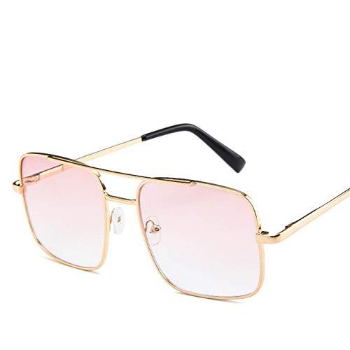 Gafas De Sol Polarizadas Square Pilot Sunglasses Men Driving Male Luxury Brand Sun Glasses For Women Metal Designer Cool Shades Mirror Retro Pinkclear