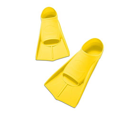 ZAYZ Aletas de Entrenamiento de Natación para El Buceo con Esnórquel, Aleta Flotante Corta Tamano de Viaje con Bolsa (Color : Yellow, Size : S)