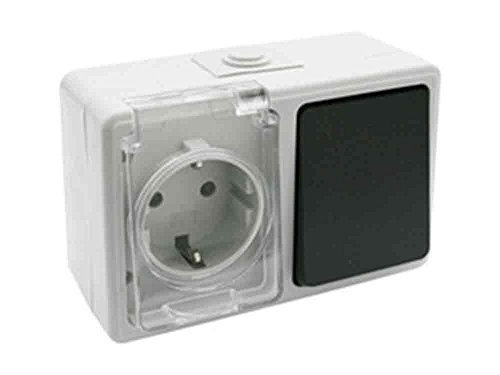 ElectroDH 36526BI DH 36.526/BI Base SCHUKO + Interruptor