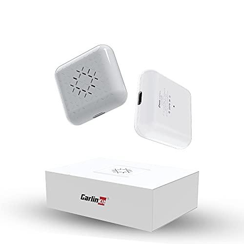 CarlinKit mini Wireless CarPlay Adaptador,Adecuado para Coches equipados con Car Play,for Audi,VW,Volvo,Citroen,Renault,Ford,Toyota,Opel,Kia Auto,USB 5G mini adaptador Convierta a CarPlay inalámbrico