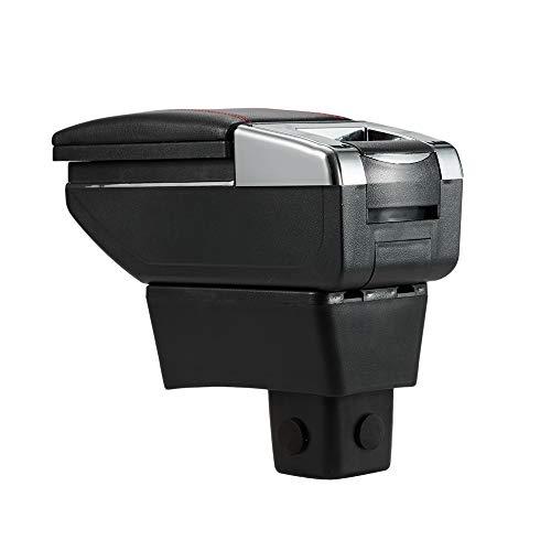 Shengkai アームレストボックス コンソールボックス, 収納ケース カップホルダー 小物入れ 適用 スズキ スイフト ZC ZD (標準版ブラック)