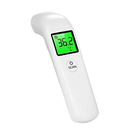 Termómetro de frente digital Moobody para bebés, niños y adultos, termómetro infrarrojo para bebés con alarma de fiebre, termómetro de medición rápida sin contacto de un botón