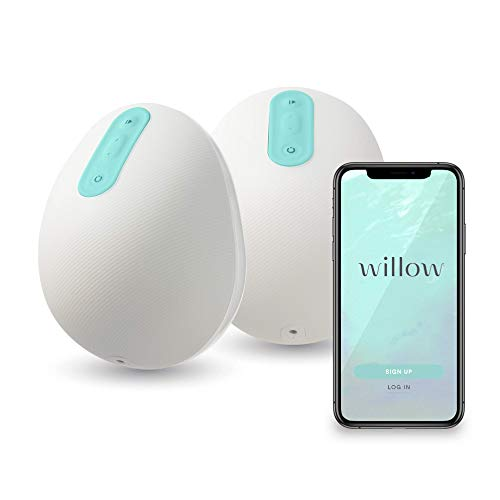 Willow Wearable Breast Pump | Quiet & Hands-Free, Portable, in-Bra Double Electric Breast Pump with App | The Only Pump That Lets You Pump in Any Position (24mm)