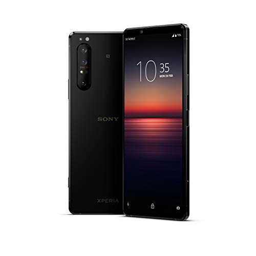 "Oferta de Sony Xperia 1 II - Teléfono móvil 21:9 de 6.5"" (4K HDR, 21:9 CinemaWide, OLED, cámara de Triple Objetivo zeiss, Audio Jack 3.5mm, Android 10, Libre, 8 GB RAM, 256 GB, IP65/68), Negro"