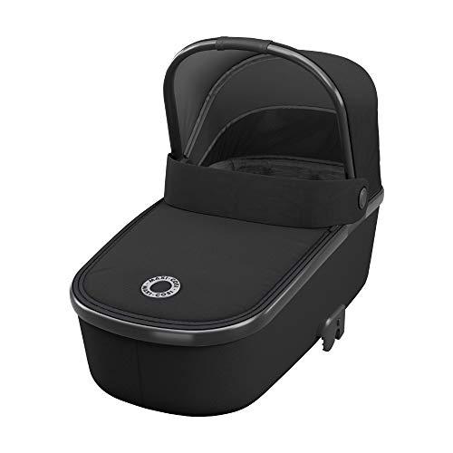 Maxi-Cosi Oria Babywanne, groß, bequem und federleichter Kinderwagenaufsatz, geeignet für Maxi-Cosi-Kinderwagen/Buggys, nutzbar ab der Geburt - 6 Monate, (ca. 0-9 kg), essential black