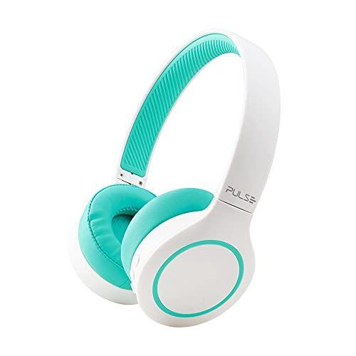 Headphone Bluetooth 5.0 Pulse Head Beats Preto e Branco e Verde 20 Horas - PH342, Único