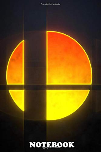 """Notebook: Super Smash Bros , Journal for Writing, College Ruled Size 6"""" x 9"""", 110 Pages"""