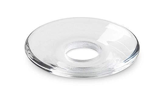 Holmegaard Lumi Glasmanschette Ø8.5cm, transparent flach handgemachtes und handgemaltes Glas