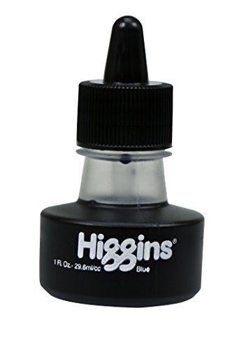 Higgins Dye-Based Drawing Ink, Blue, 1 Oz Bottle (44108)
