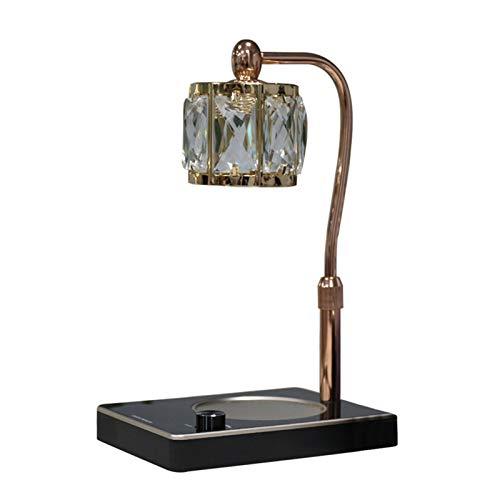 QLIGHA Lámpara de Cristal para Calentar Velas, lámpara de fusión de Cera de Altura Ajustable, Dormitorio, Quemador de Cera eléctrico Regulable, Quemador de Fragancia, lámpara de aromaterapia