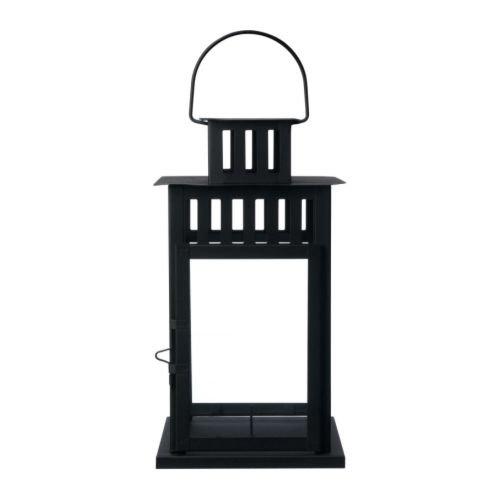 IKEA(イケア)BORRBY50156112ブロックキャンドル用ランタン,ブラック
