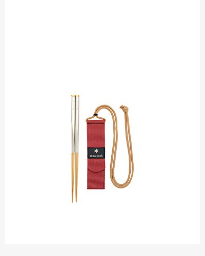 Snow Peak Wabuki Chopsticks, SCT-111, Bamboo, Collapsible and Compact for Camping, Backpacking, Daily Use, Designed in Japan, Lifetime Product Guarantee, Large