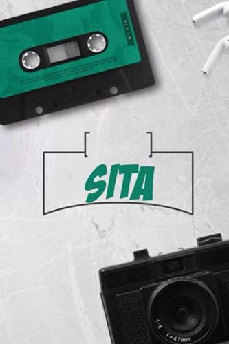 Sita: Vintage Custom Personalized Name Sita Notebook, Diary, Journal - Retro Birthday, 120 page, Lined, 6x9