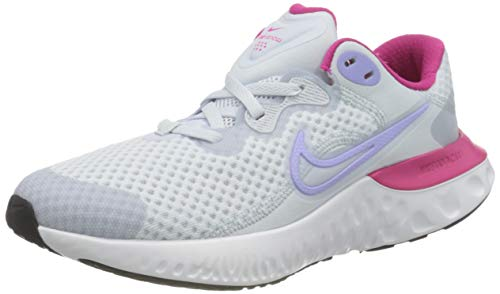 Nike Renew Run 2 (GS), Scarpe da Corsa, Football Grey/Purple Pulse-Fireberry-Thunder Blue-White, 39 EU