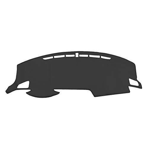 OREALTECH Anti Rutsch Autolichtmatte Lichtschutzmatte Armaturenbrett Mittelkonsole Sonnenschutz Abdeckung Auto Dashmat Dash Pad Cover Matte Teppich Leder für Honda Civic 2016 2017 2018