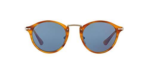Persol Herren 0Po3166S 960/56 49 Sonnenbrille, Braun (Striped Brown/Lightbluee)