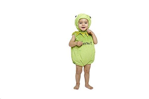 Disney Amscan - DCKER-TA06 - Costume - Peluche - Kermit Tabard - 6-12 Mois