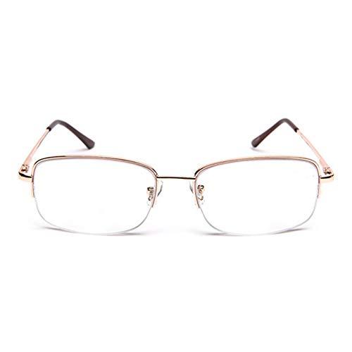 Glass Progressive Unisex leesbril, multifunctionele leesbril met meervoudige focus, metalen veiligheidsbril tegen vermoeidheid