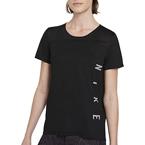 NIKE Camiseta para Hombre Run Dvn Miler SS, Hombre, Camiseta, DA1246, Negro, Gris y Reflectante, Extra-Small