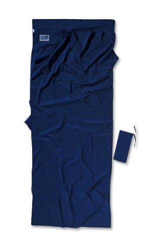 Cocoon Ägyptische Baumwolle Travel Sheet Baumwollschlafsack, Blau (Tuareg), 220 x 90 cm