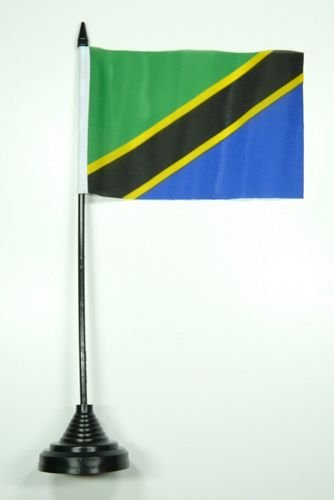 Tischflagge Tansania Flagge Fahne 10 x 15 cm FLAGGENMAE® Tischfahne