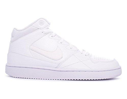 Nike Jungen Priority MID GS Basketballschuhe, Blanco (White/White), 35 1/2 EU