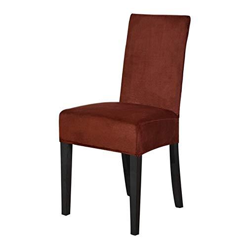 YGLONG Fundas para sillas de comedor, 2 piezas, fundas de silla de comedor, de licra, fundas elásticas para sillas de comedor (color café oscuro, especificación: universal)
