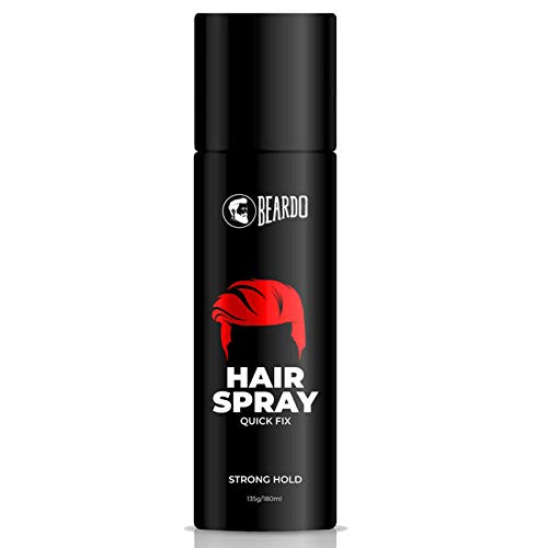 Beardo Strong Hold Hair Spray For Men, 135 gm | Made in India