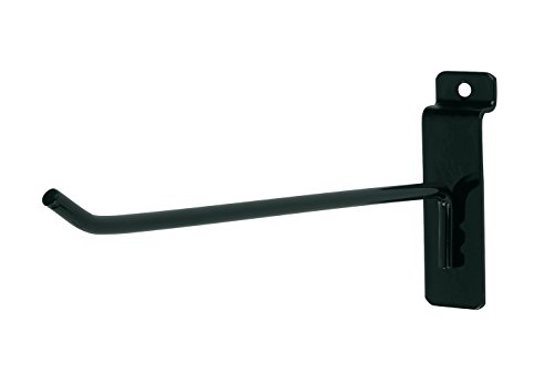 8 inch Black Peg Hook for Slatwall - Pack of 50