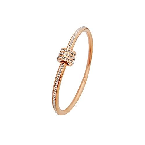 Meys Damenarmband,Armbands glänzendes Zirkon Kristallanhängerarmband, Armband Nicht verblassendes Armband aus Titanstahl