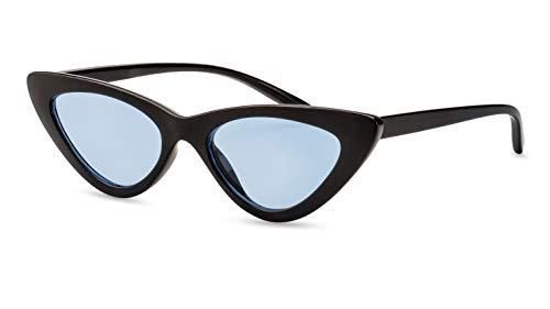 Primetta Schmale Cateye Sonnenbrille/Vintage Sonnenbrille für Damen/Blau getönt F2508610