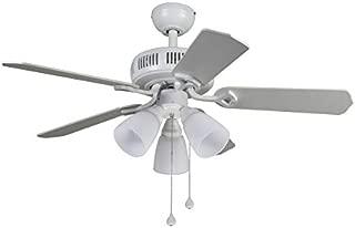 Harbor Breeze Barnstaple Bay 42-in White Indoor Ceiling Fan with Light Kit