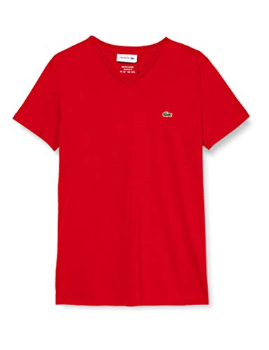 Lacoste TH6710 T-Shirt, Red, 4XL Uomo
