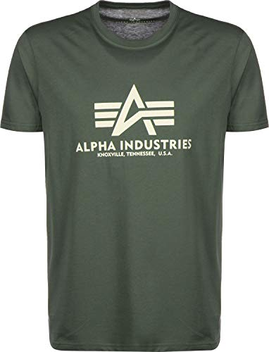 Alpha Industries Basic T-Shirt Khaki M