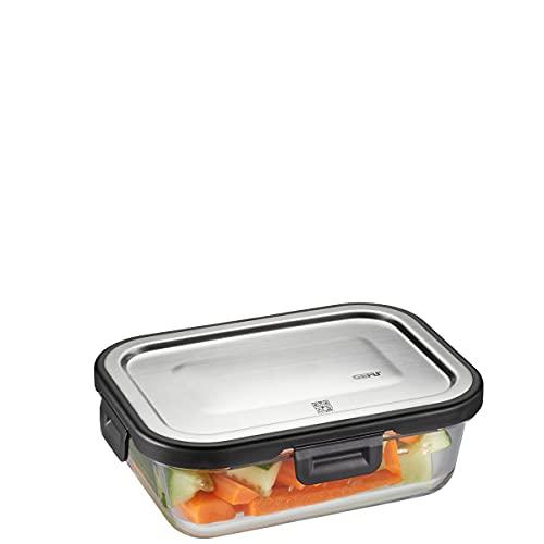 GEFU 12752 Frischhaltedose Milo, rechteckig, 600 ml (Frische- und Vorratskontrolle per App)