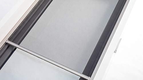 Fliegengitter Elektrorollo für Türen - kleines 45mm x 45mm Gehäuse - max. 1,2 m Breite und 2,1 m Höhe - einfache Montage - Insektenschutz Rollo